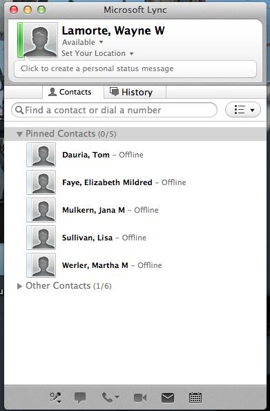 Running a Lync for Mac Meeting