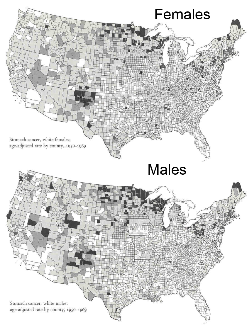Data Presentation - Us counties with highest cancer rate